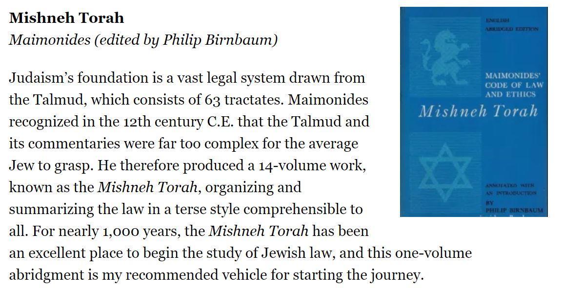 Mishneh Torah.