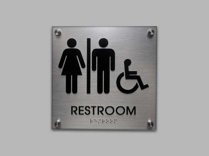 Ada Restroom Signs  Ada Bathroom Signs  Unisex Signs