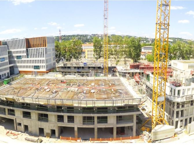 Chantier construction Lyon phase 2