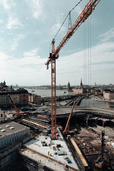 chantier grue construction, suivi timelapse