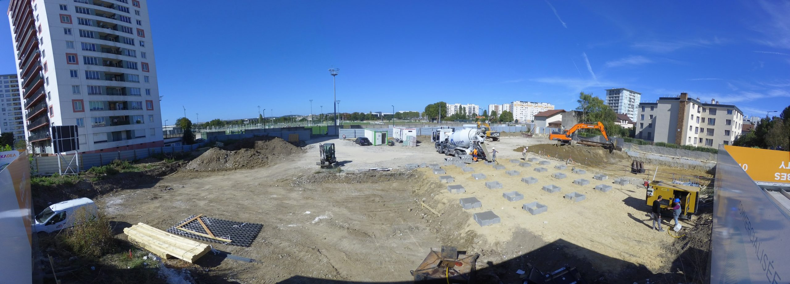 Timelapse projet Icade Colombes