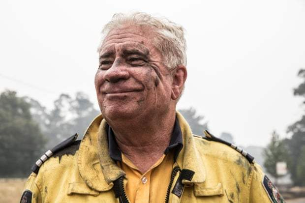 Steve Urquhart from Camden West Rural Fire Service, who has been fighting the fires at Wingello. Photograph: Jessica Hromas/The Guardian