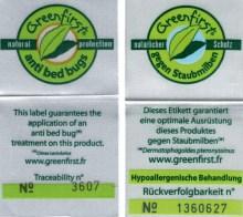 MAGNETO-TEX® top-madras med Energon Protect stoffet har et Greenfirst® Kontrol-Trackingnummer