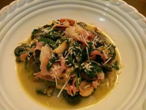 portobello spinach recipe prosciutto