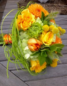 Erika Anderson Designs wedding bouquet with tulips