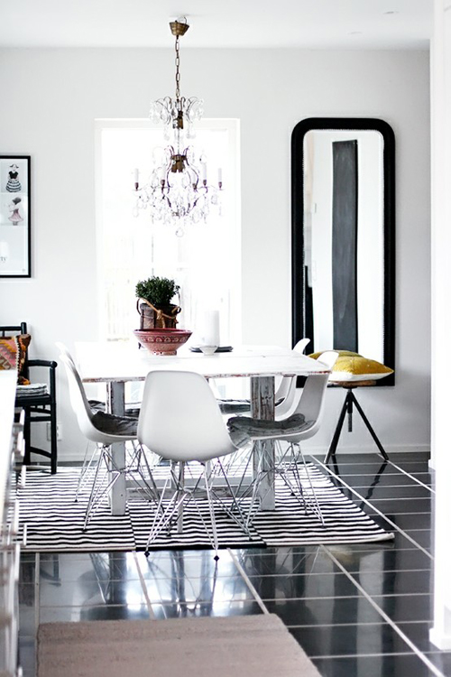 Dining Chairs Black Silver And