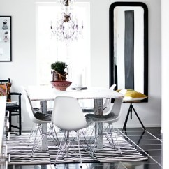 Black And White Striped Chairs Cheap Wedding Chair Cover Rentals Black+white Dining Breakfast Nook - Erika Brechtel