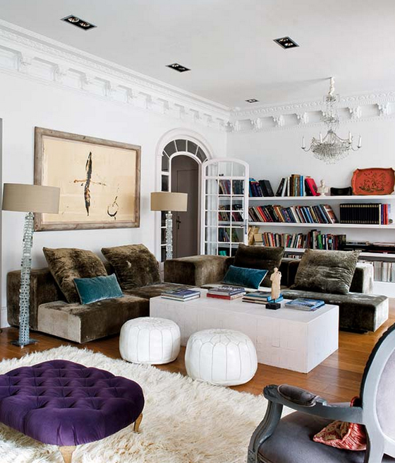 barcelona chair style couch sitting room chairs trad eclectic designer home - erika brechtel