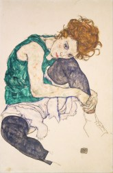 Seated Woman with Bent Knee, Egon Schiele