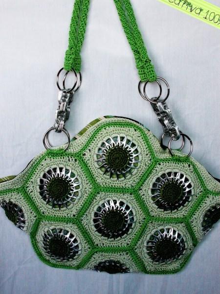 Hexagonal Motif Pop Tab Purse