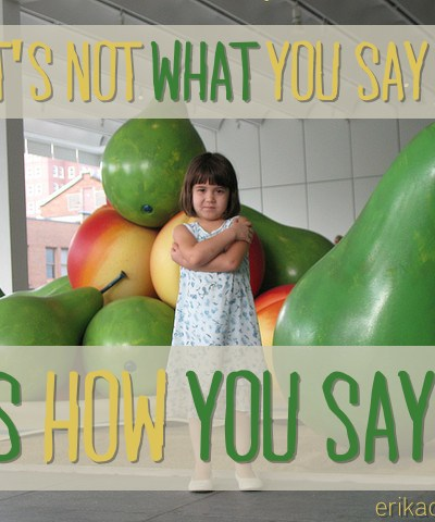 It's Not What You Say {New Family Phrases Day 2}