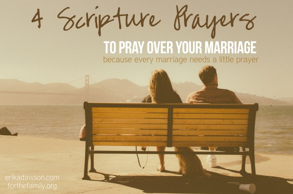 4 Scripture Prayers to Pray Over Your Marriage #praytruth #marriage #prayer #Scripture