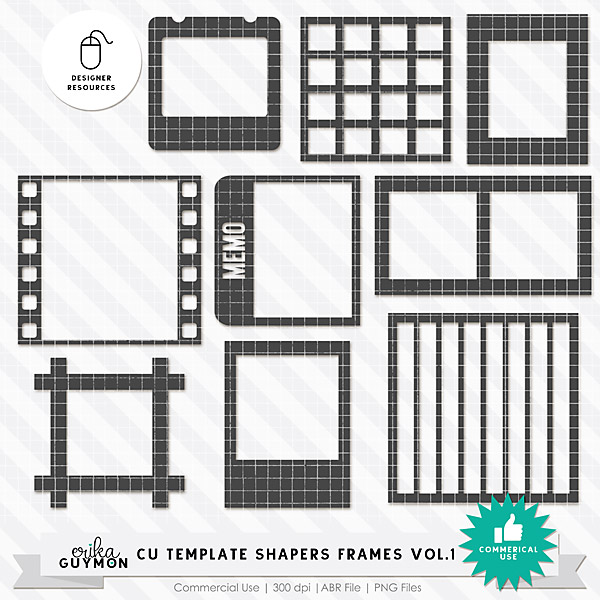 CU Template Shapers Frames Vol.1 | Designer Resources | Erika Guymon