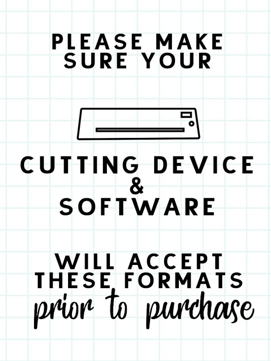 Please make sure your software will accept these formats prior to purchase.