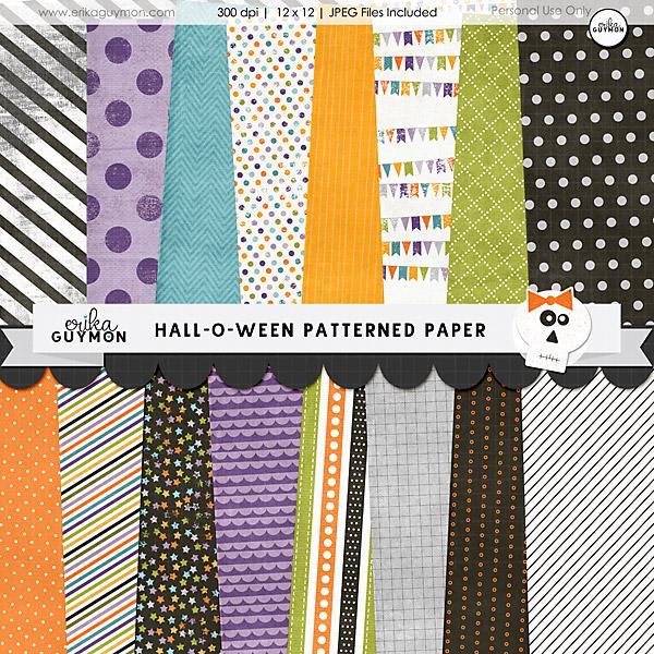 HallOWeen Digital Scrapbooking Patterned Paper