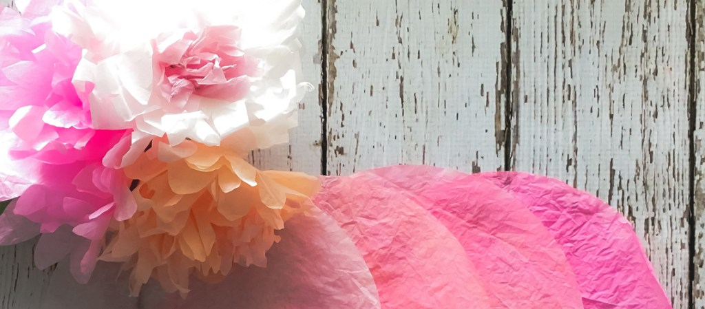 Beautiful pink coffee filter flowers