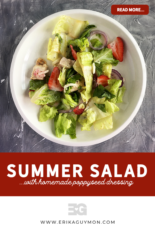 Summer Salad With Homemade Poppyseed Dressing