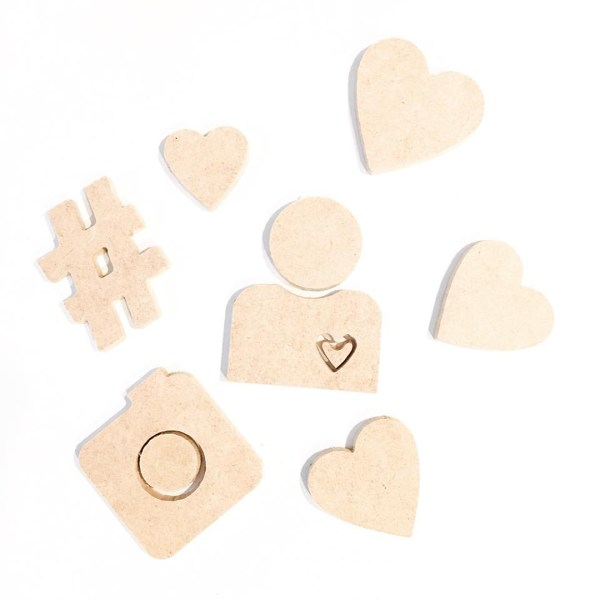 MDF Wood Cutout Shapes and letters
