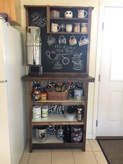 Ikea BILLY bookcase turned at Home Coffee Bar Hack  Erika