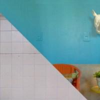 Como cobrir azulejos antigos com efeito pintura e cimento queimado!