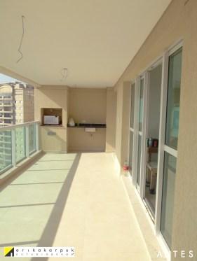 ANTES da varanda Gourmet. Apartamento Clássico Contemporâneo em SP projeto Erika karpuk