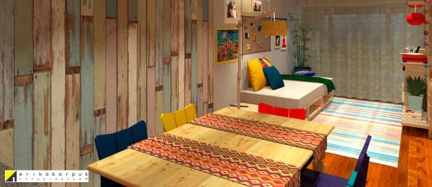Apartamento descolado com decoração barata . por Erika Karpuk