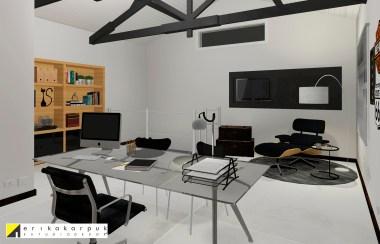 Home Office masculino e moderno. Projeto Erika Karpuk