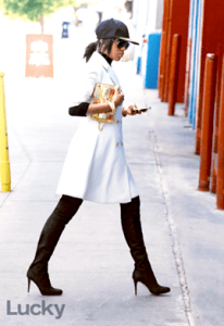 Kerry Washington Fit and Flare Wool Coat
