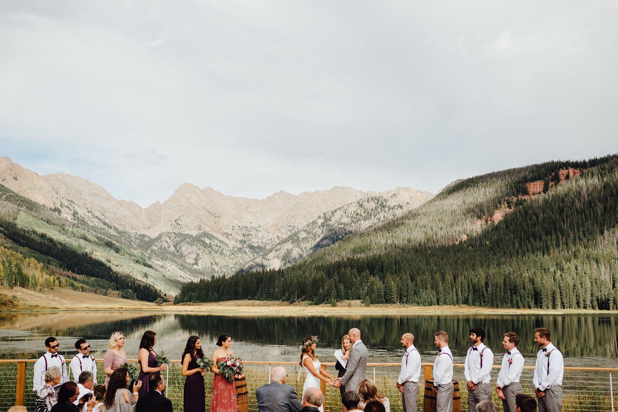 piney river ranch wedding in fall