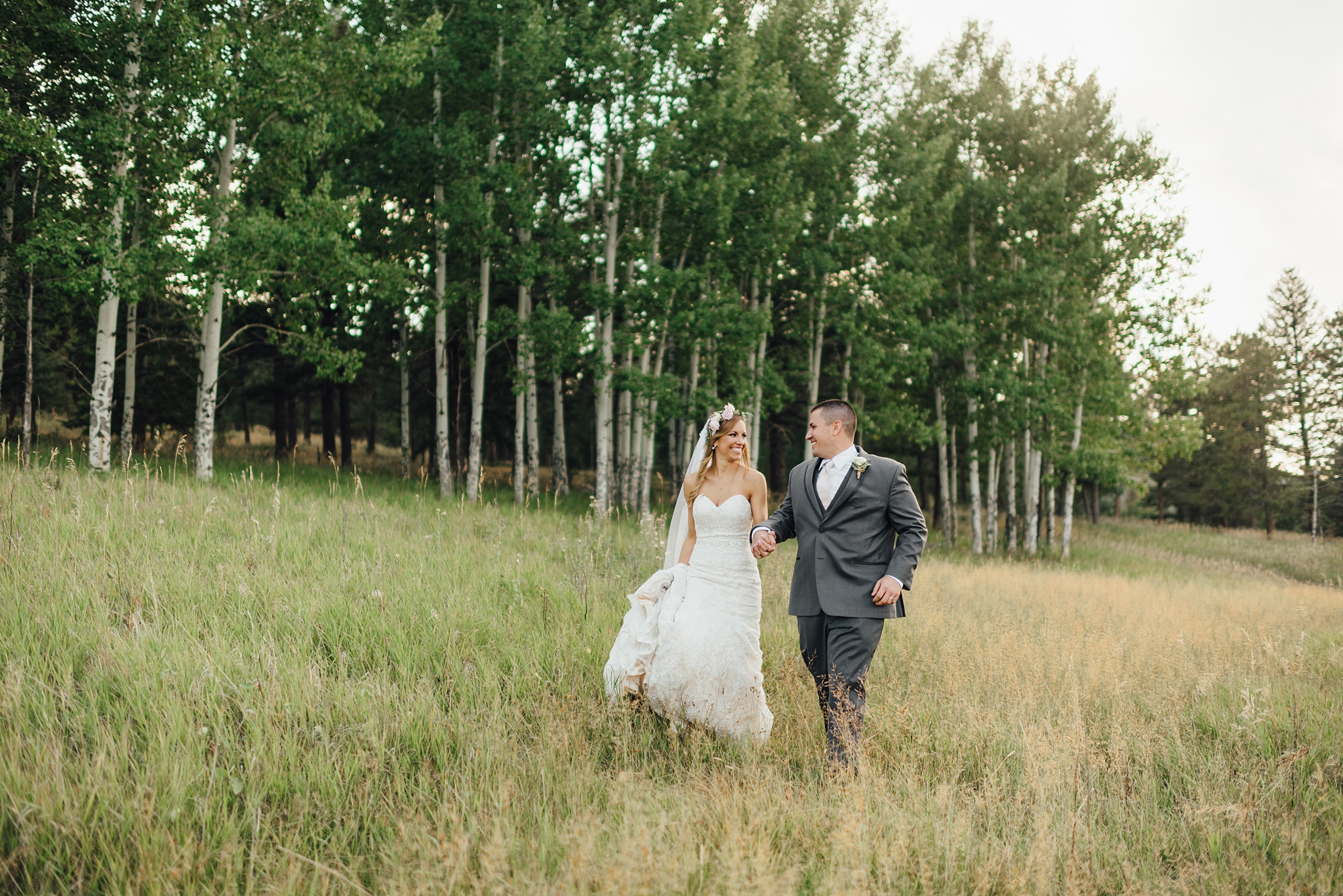 wedding at the barn at meadows at marshdale in evergreen, colorado