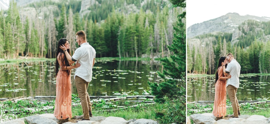 nymph lake engagement photos