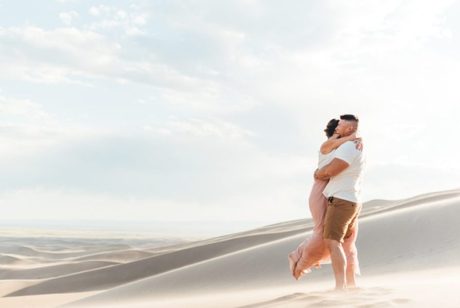 barefoot engagement session