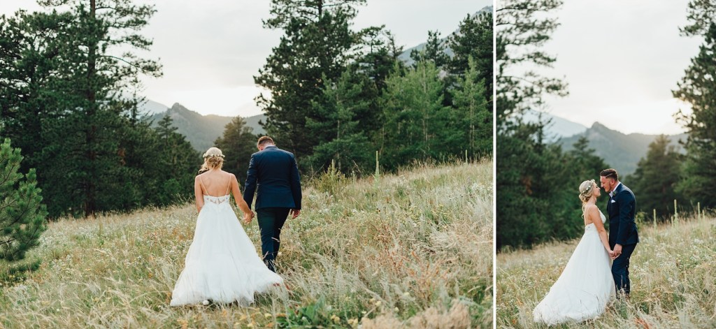 estes park, colorado mountain wedding