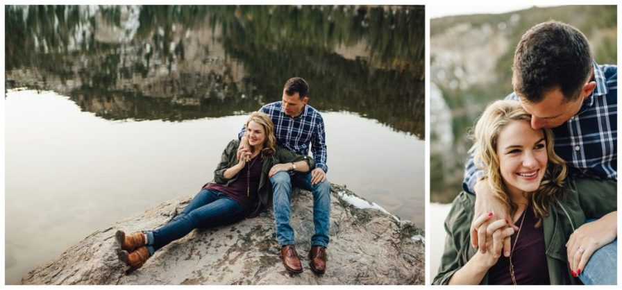 Bear Lake engagement photos, Rocky Mountain National Park