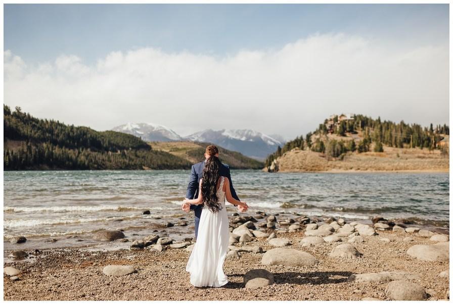 Wedding near Dillon Reservoir. First look location ideas