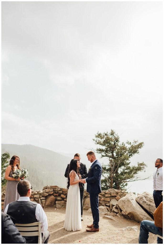Snowy Colorado elopement in October