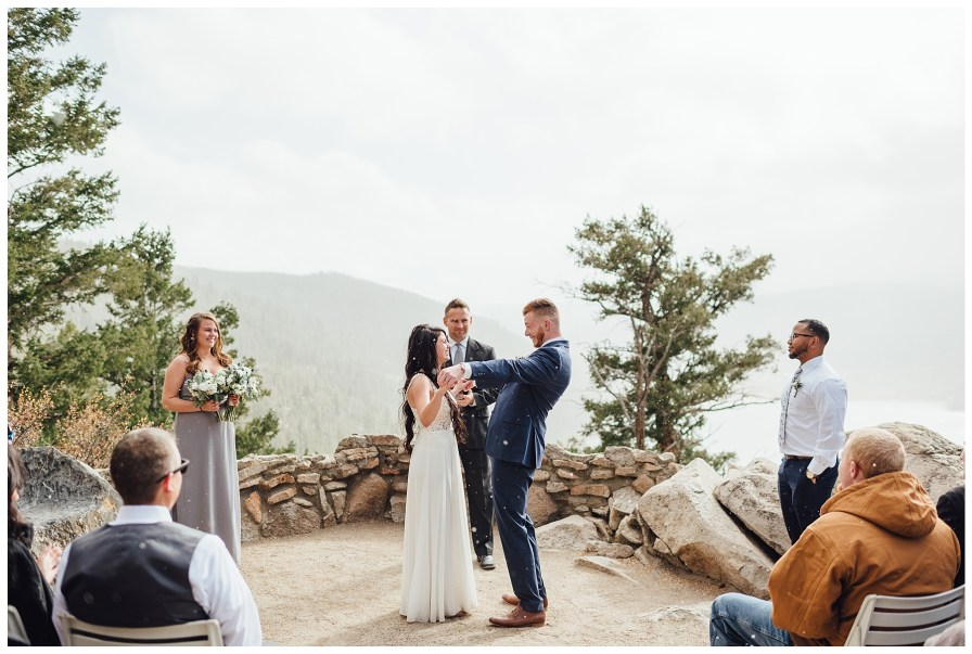 Groom is so excited to be pronounced husband and wife