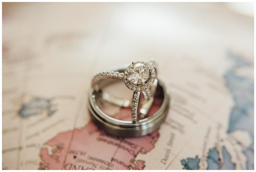 Ring photo on globe