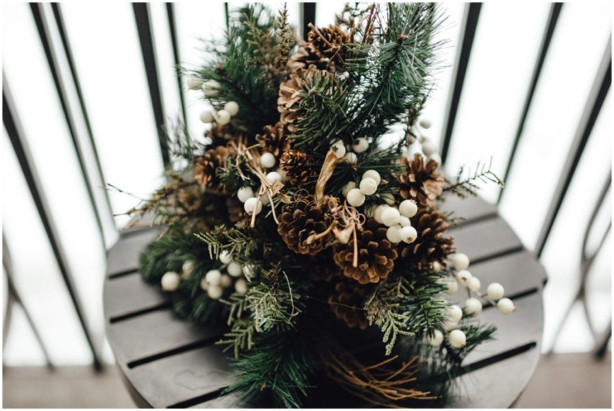 Bouquet of pine cones and pine trees