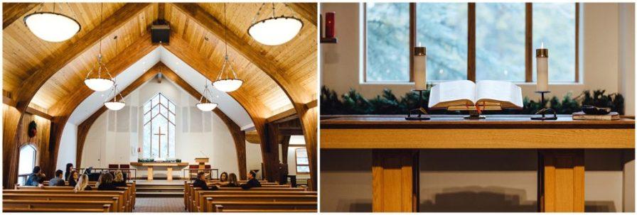 Inside a chapel in Vail Colorado