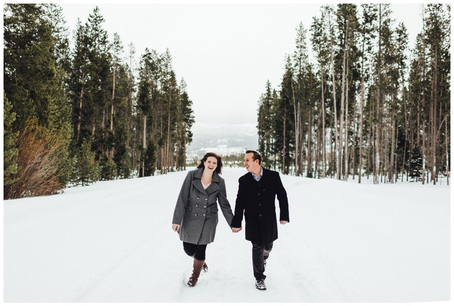 Winter Park Colorado engagement photos