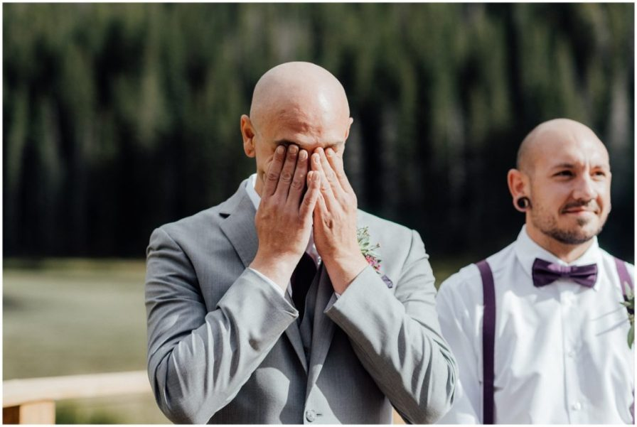 groom's first reaction to seeing bride