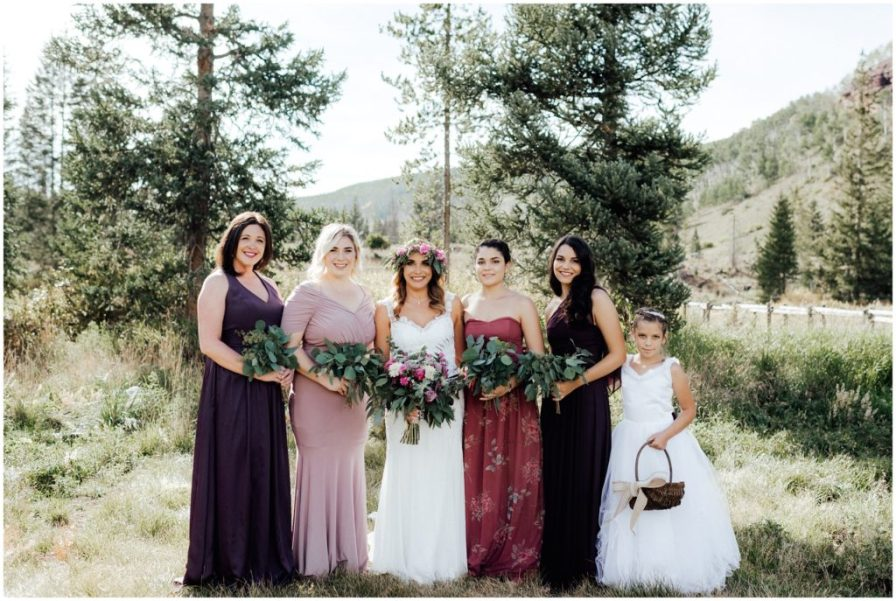color coordinating bridesmaid dresses