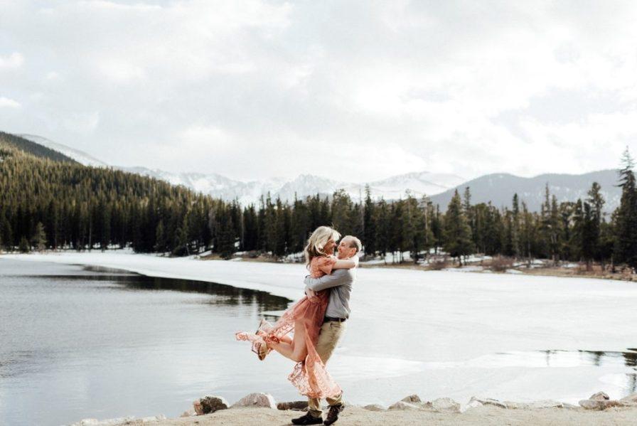 Engagement photo location in Colorado