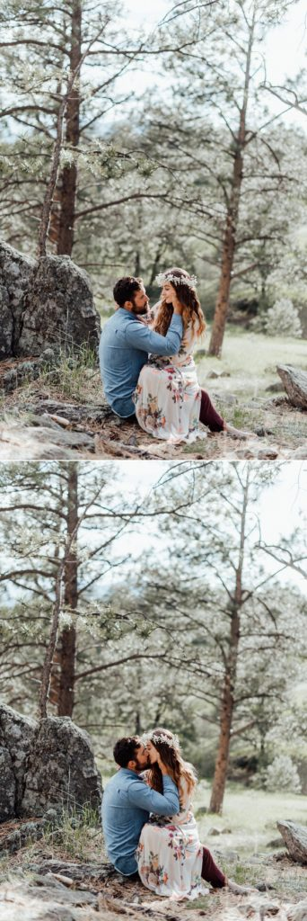 Summer engagement photos in Golden, Colorado