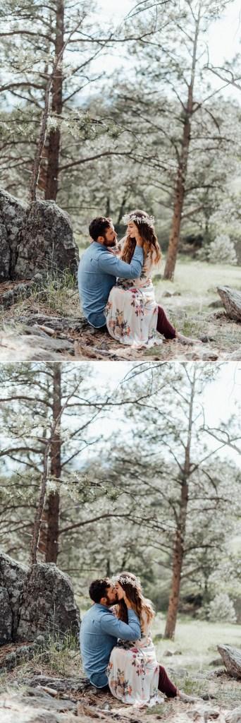 Summer engagement photos in Golden, Colorado