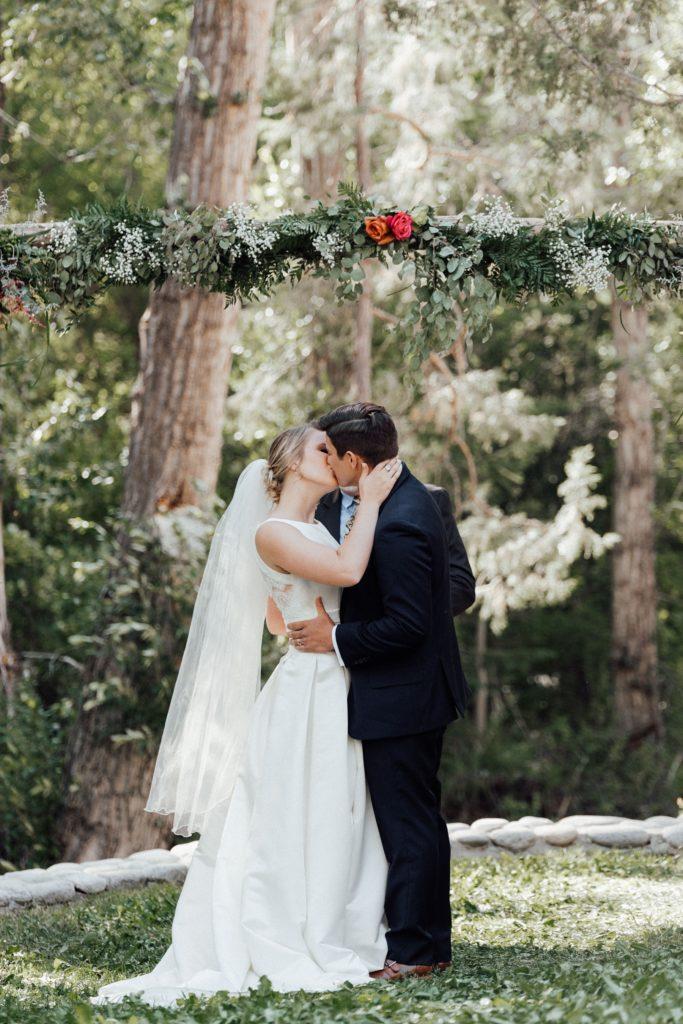 First kiss as husband and wife, Salida wedding photographer