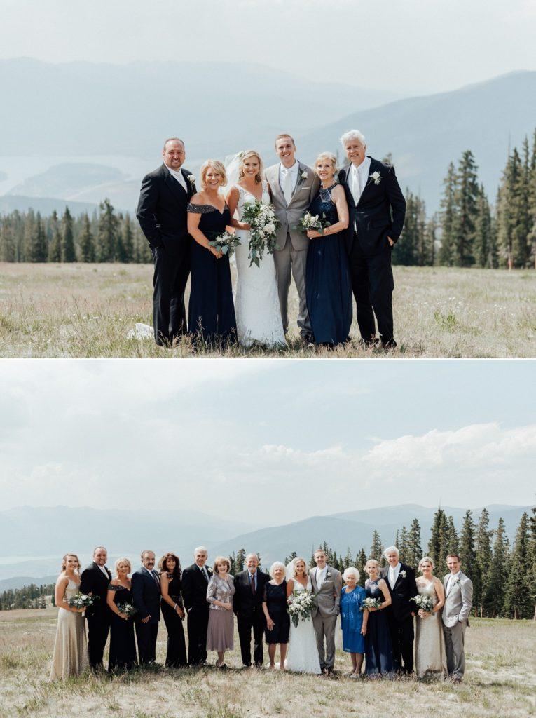 Family photos at Keystone Resort