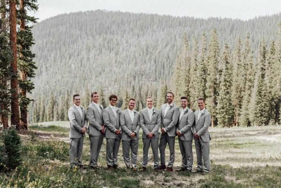 Groomsmen photos at Timber Ridge in Keystone