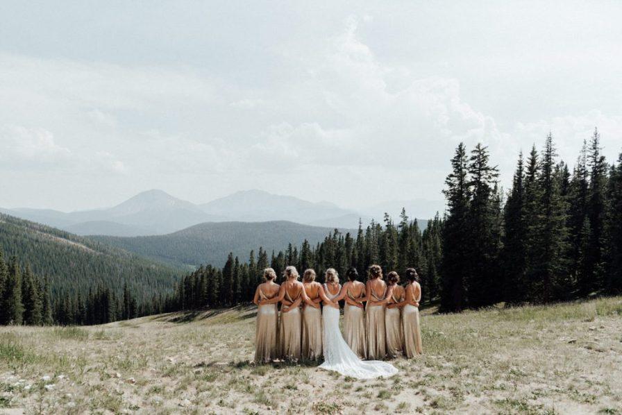Bridesmaid photos at Timber Ridge in Keystone